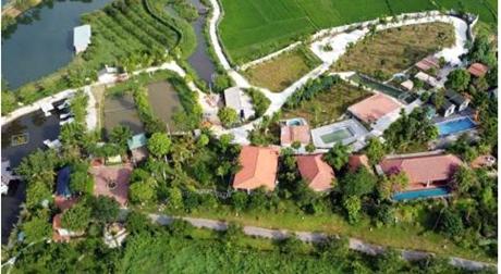 Khu nghỉ dưỡng xây không phép sừng sững gần hồ Đại Lải