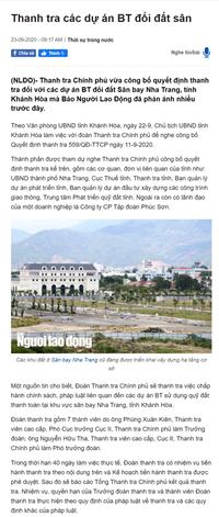 Công ty Phúc Sơn sử dụng quỹ đất thanh toán tại khu vực sân bay Nha Trang có đúng luật