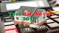 Cách tính thuế đất thổ cư mới nhất 2020