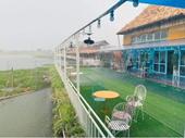 Hà Nội Vườn sinh thái Phúc Thọ Hoa Bay xây dựng nhà hàng lấn chiếm lòng sông