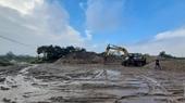 Huyện Ba Vì chưa xử lý dứt điểm nhiều bãi trung chuyển vật liệu xây dựng không phép