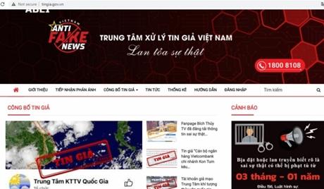 Bộ Thông tin và truyền thông ra mắt trung tâm xử lý tin giả