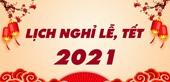 Lịch nghỉ giao dịch chứng khoán dịp Tết Nguyên đán 2021