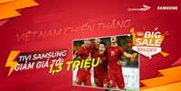 Đồng hành cùng Tuyển Việt Nam tại vòng loại World Cup 2022, Sunshine Mall giảm giá cực sốc Tivi Samsung