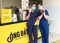 Cà phê Ông Bầu tiếp thêm năng lượng cho các y bác sĩ tuyến đầu chống dịch